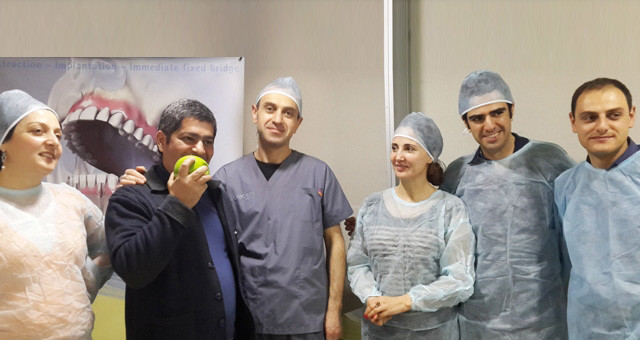 Armenian dentists presented innovative method  for surgical implantation in Georgia